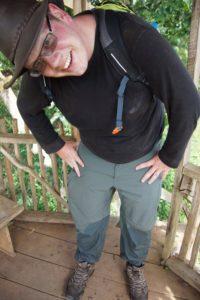 Wandermust Daddy was glad of waterproof trousers when he fell in a swamp