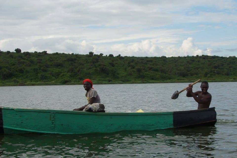 The locals fishing on the Kazinga Channel