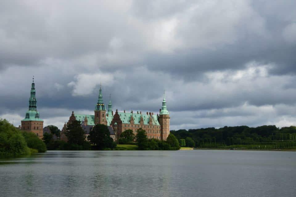 Our first view of Frederiksborg Castle Copenhagen