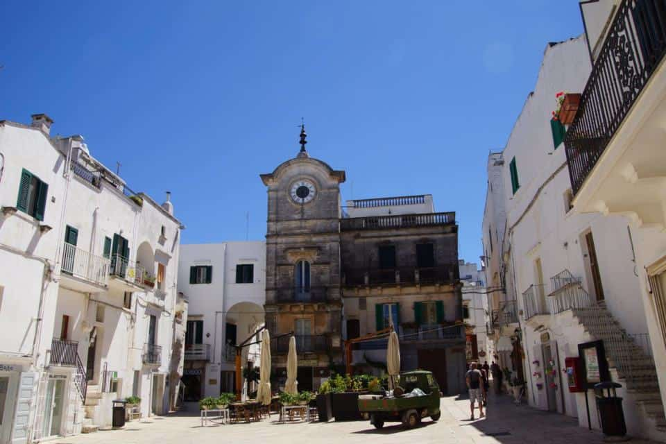 Beautiful town square of Cisternino