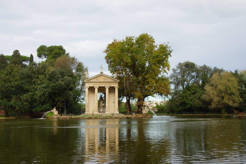 Temple and Boating Lake