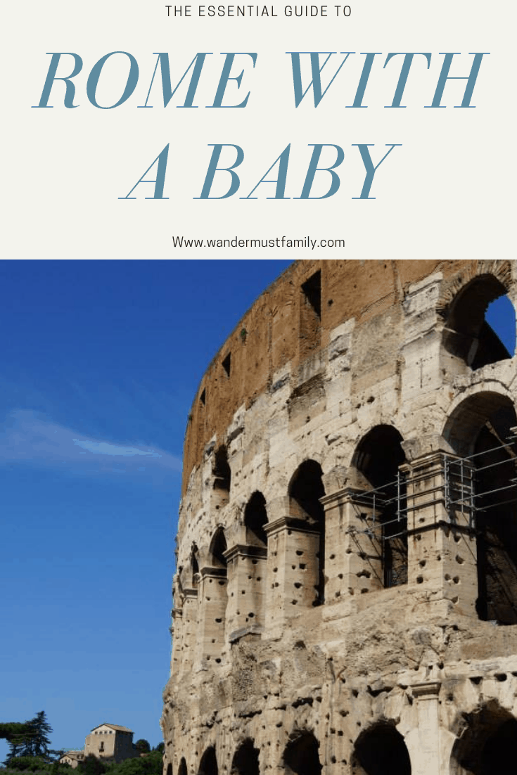 Essential Guide to Visiting Rome with a Baby or Toddler! Best Things to do in Rome with a baby or toddler! Best Things to do in Rome with a toddler - How to get Around Rome with a baby or Toddler aka can I use strollers in Rome #rome #rometravel #romebaby #romefamilytravel #romeitaly