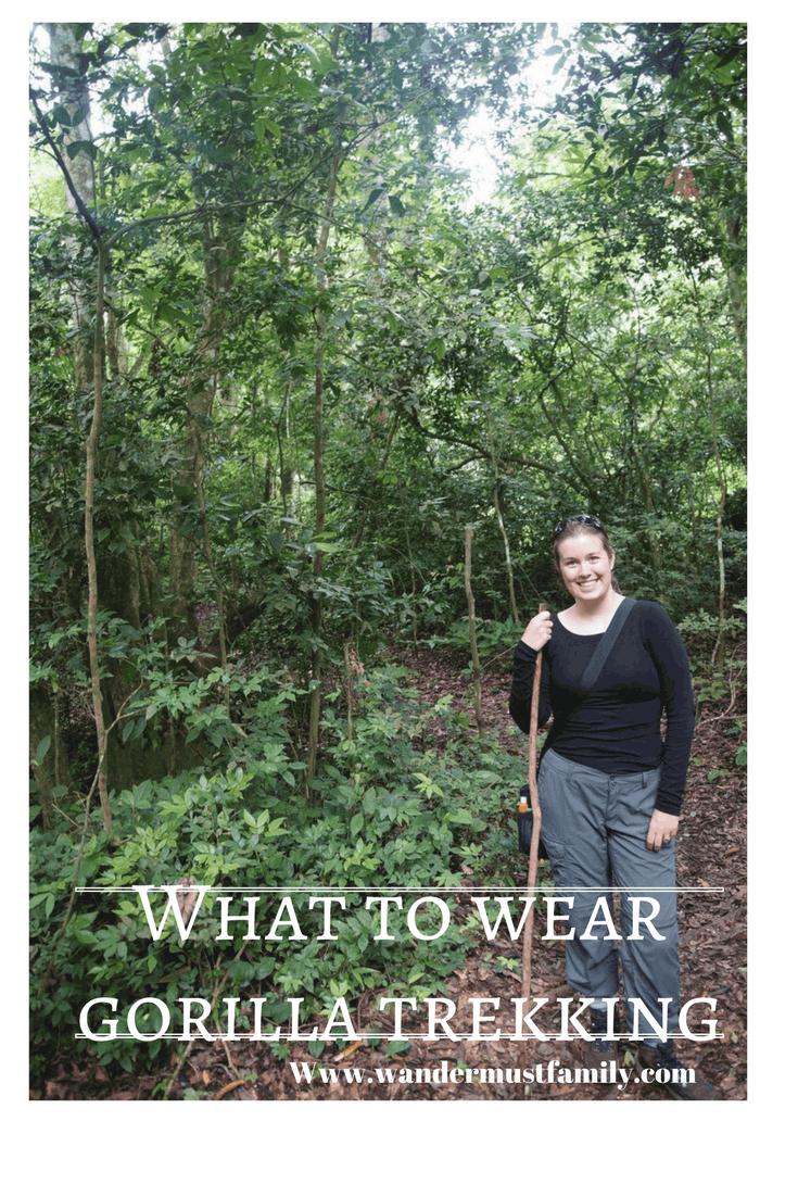 What to wear gorilla trekking