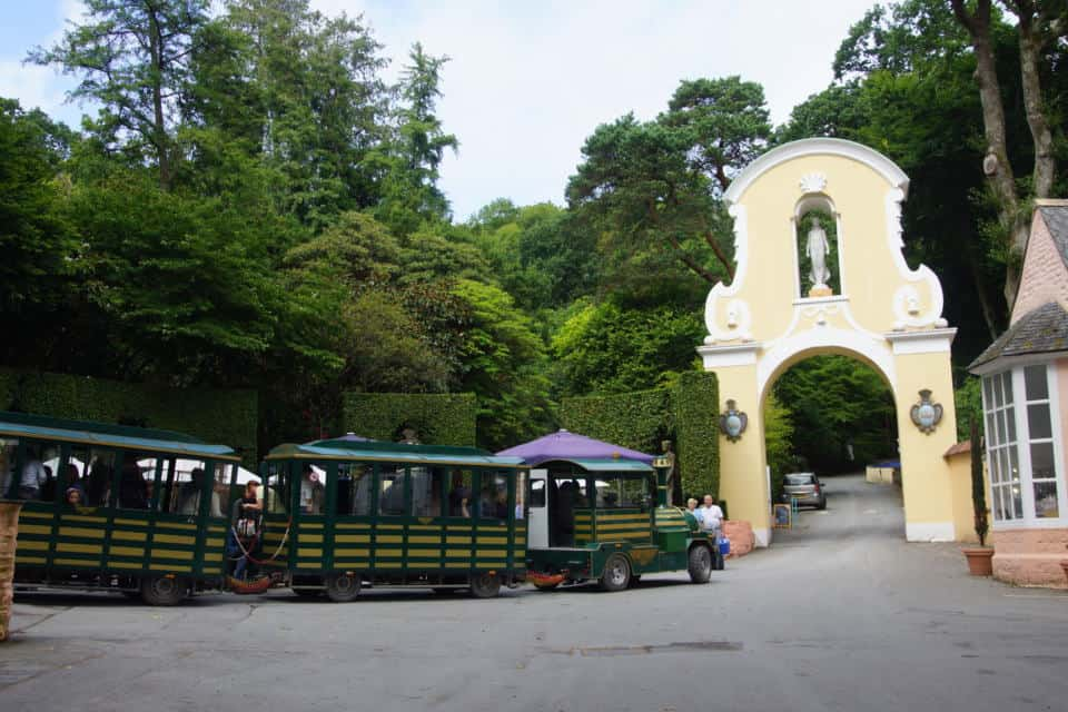 What to do in portmeirion: a woodland train ride