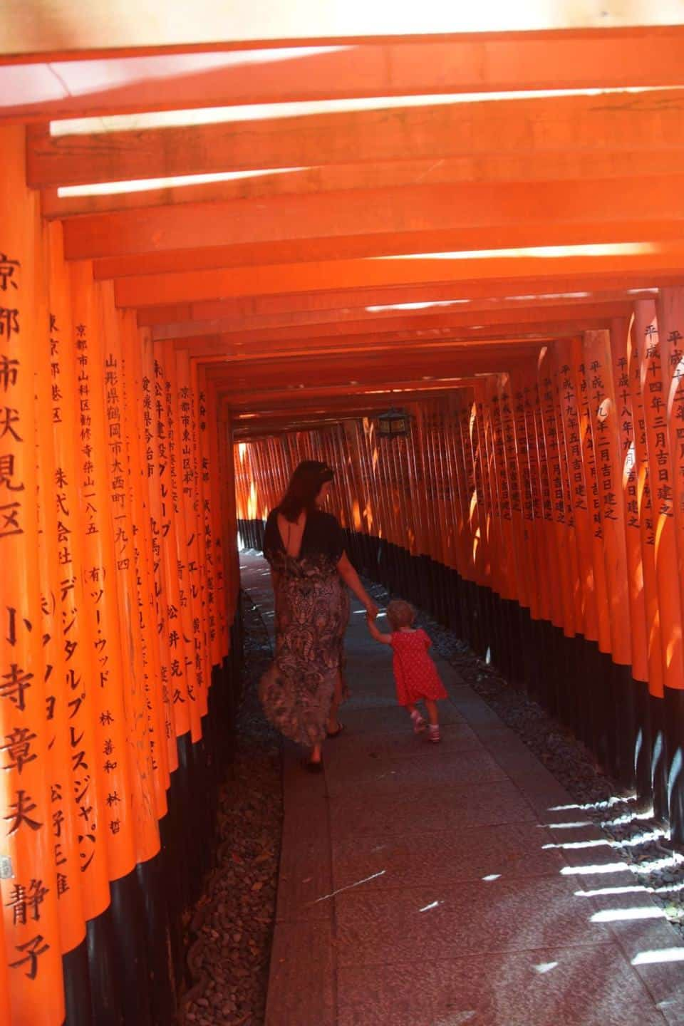 what to do in kyoto - Fushimi Inari with Kids