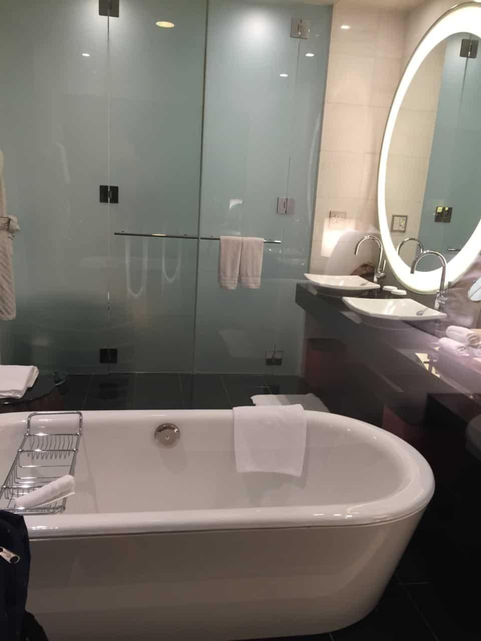 The bathroom at the Conrad Tokyo