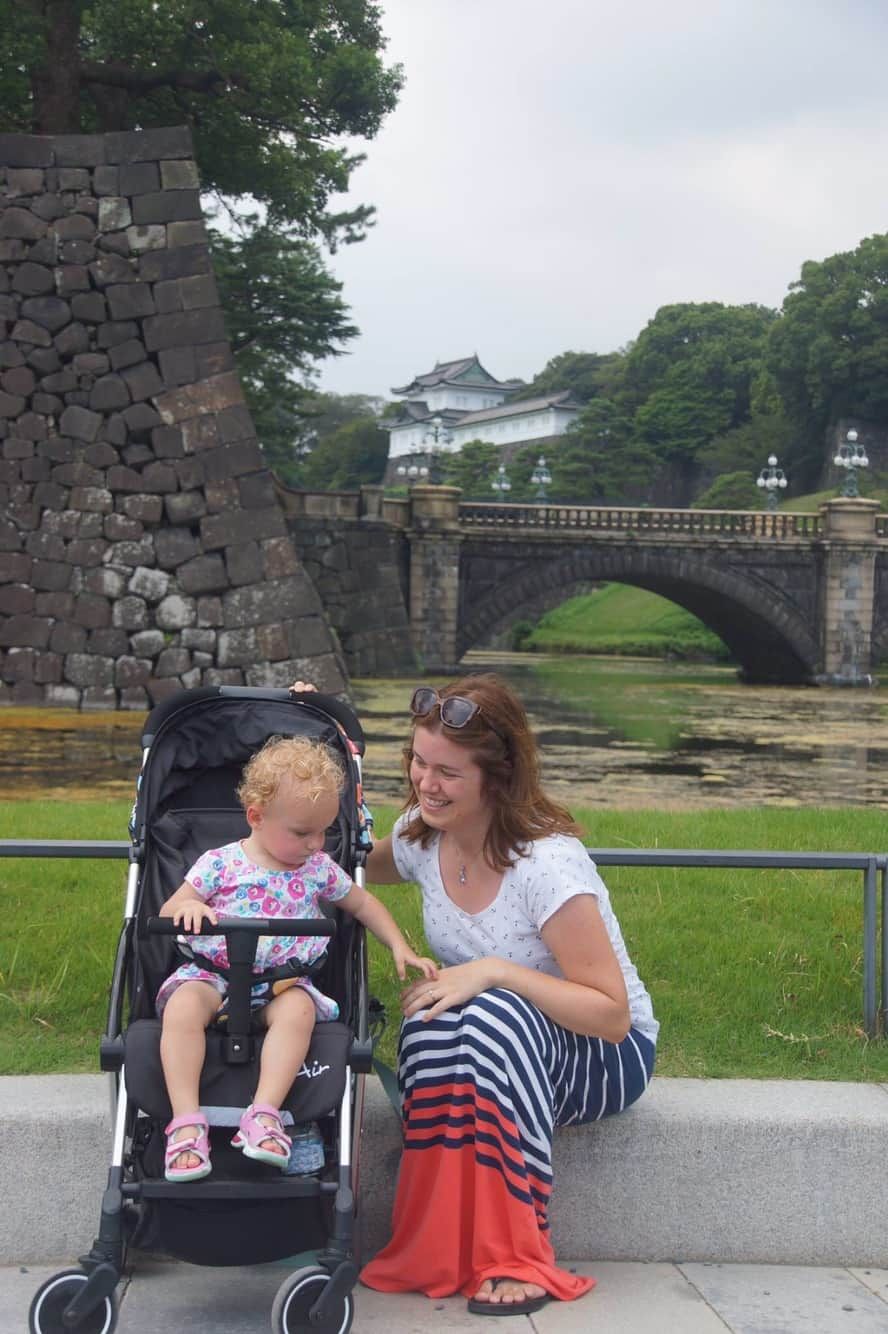 Familidoo Air Stroller at Tokyo Imperial Palace