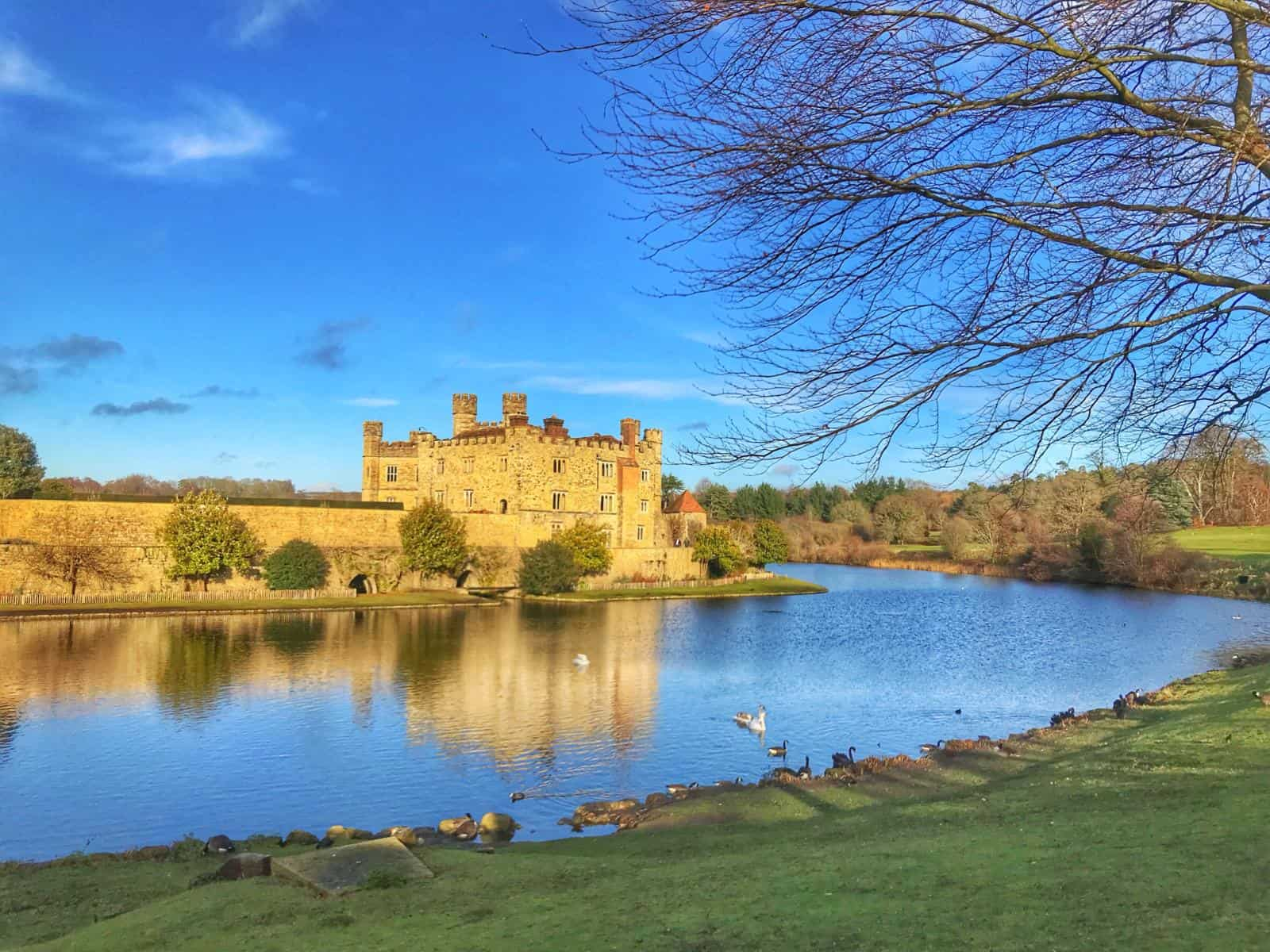 Leeds Castle - one of the best things to do in london at christmas - best Winter Day trips from London