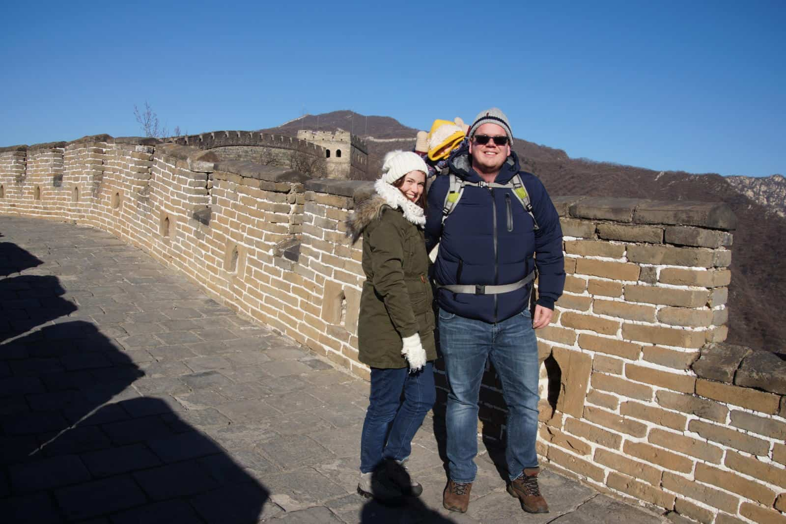 Wandermust Family at the Great Wall of China