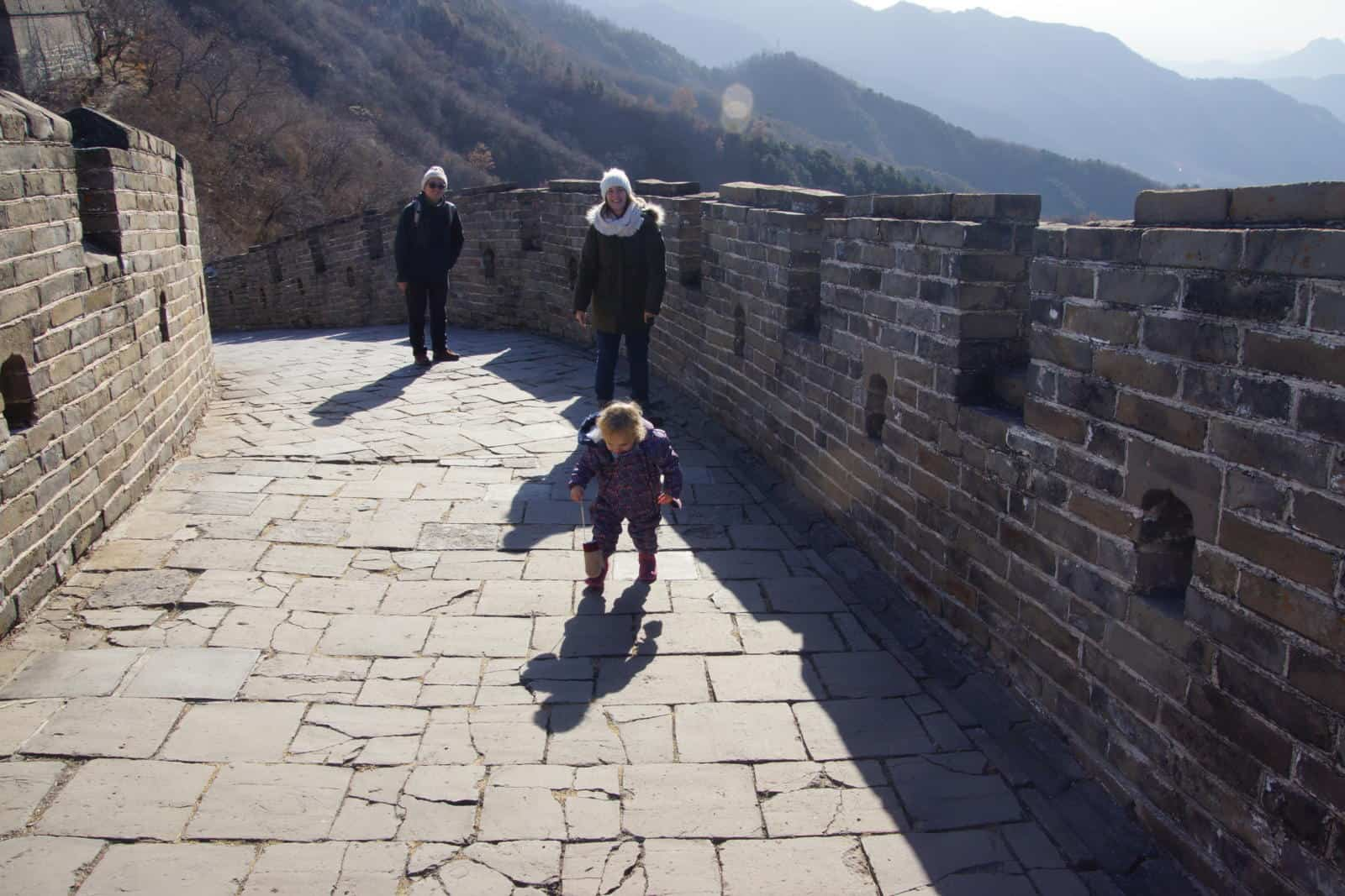 Baby Wandermust walking the Great Wall of China - Visiting the Great Wall of China with toddlers
