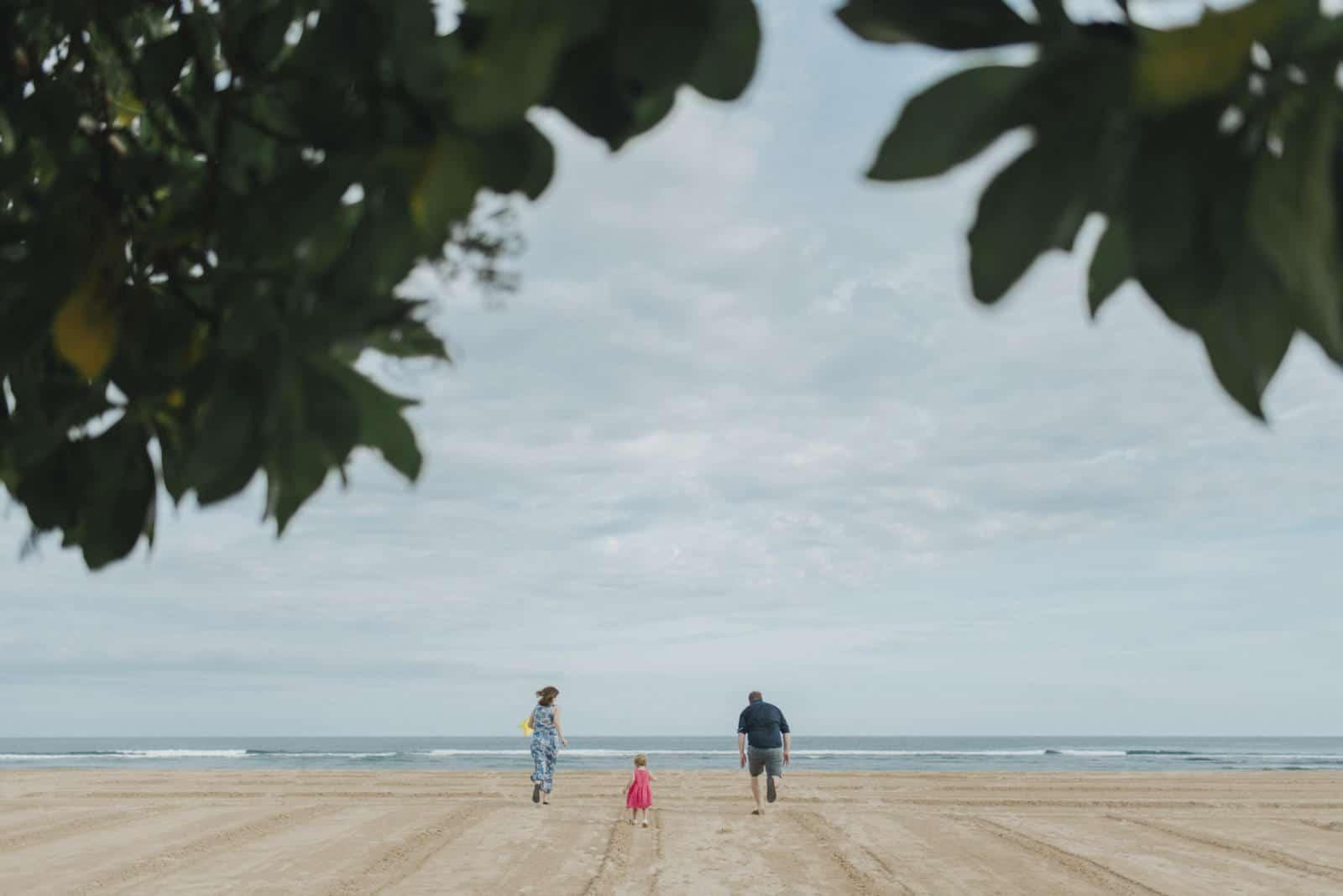 Wanderloud Photoshoot running to the beach