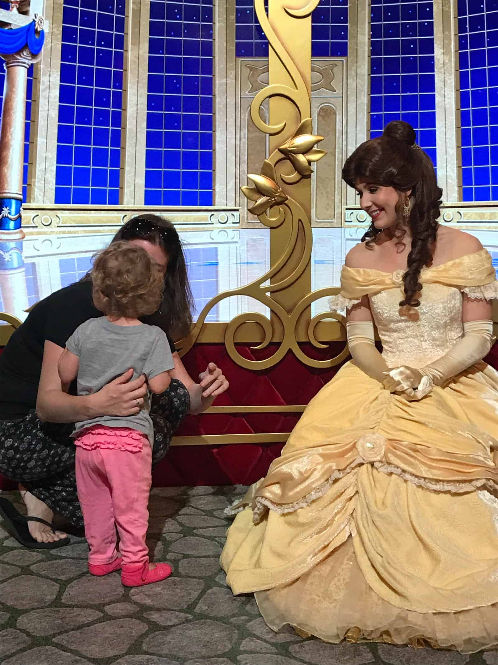 Character interactions at Hong Kong Disneyland with toddler