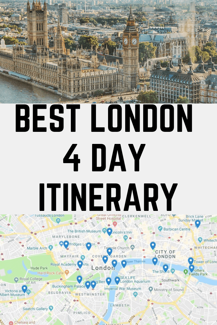 Perfect 4 Day London Itinerary - best things to do in london in 4 days! Fours days in London!  #london #visitlondon #thingstodoinlondon #4daysinlondon #londonthingstodo #londonitinerary #4daysinlondonitinerary #london4dayitinerary #london4days