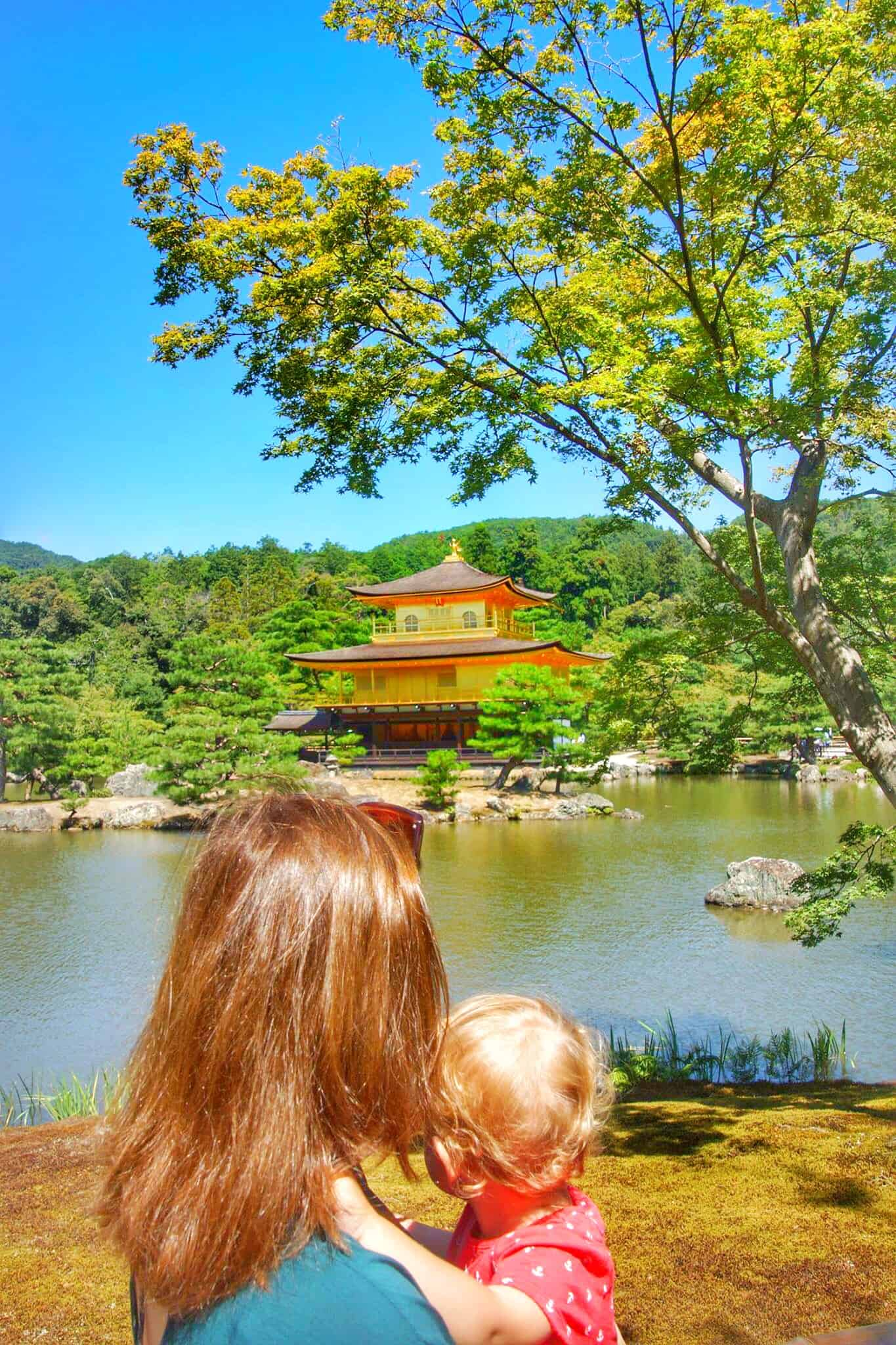 Golden pavilion aka Kikakuji one of the best things to do in Kyoto with Kids