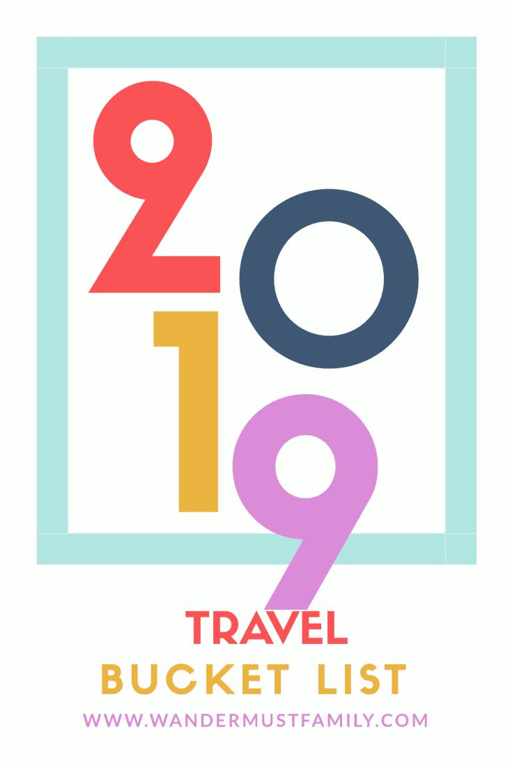 My 2019 travel bucket list