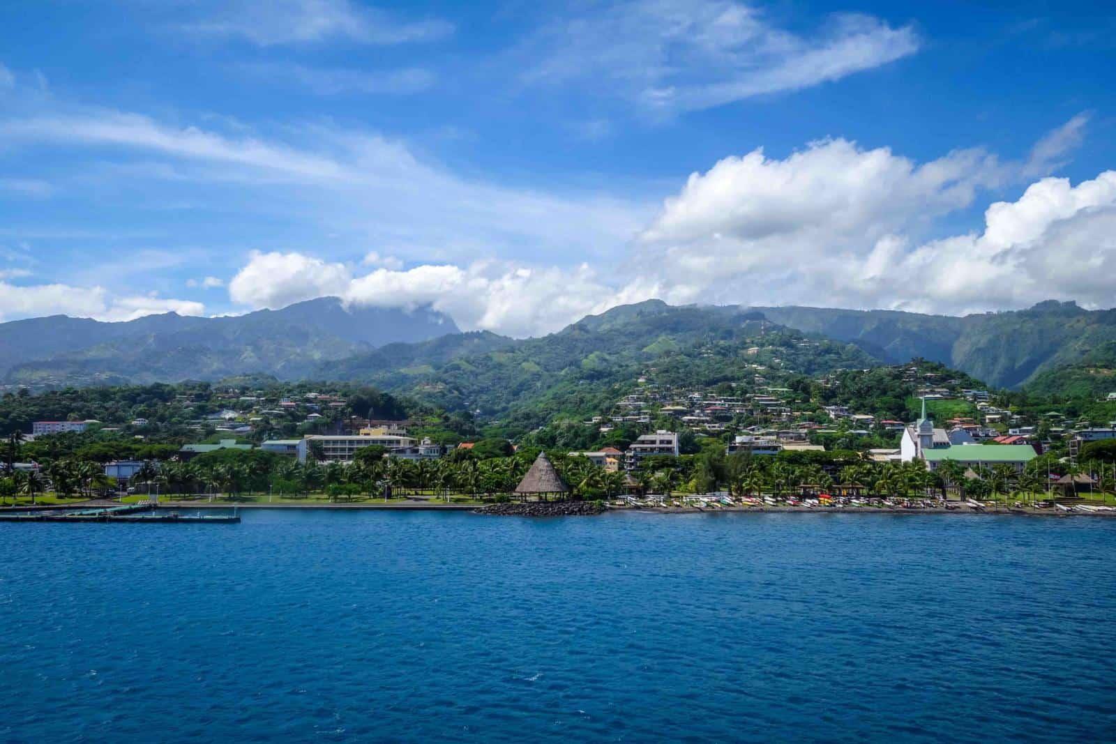 Papeete city view - is Tahiti or Bora Bora or Moorea the best tropical paradise