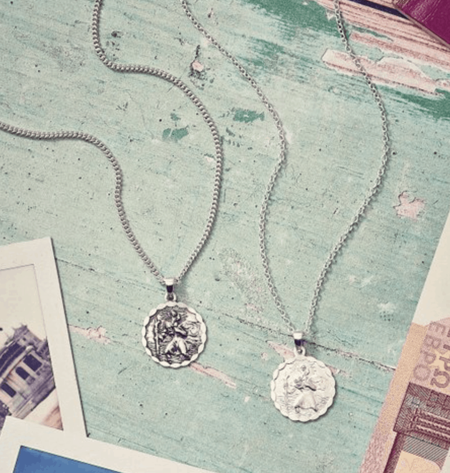 7c09f8422af This is one of the few pieces of jewelry that my husband owns and wears! St  Christopher is the patron saint of travel. Traditionally these necklaces  are ...