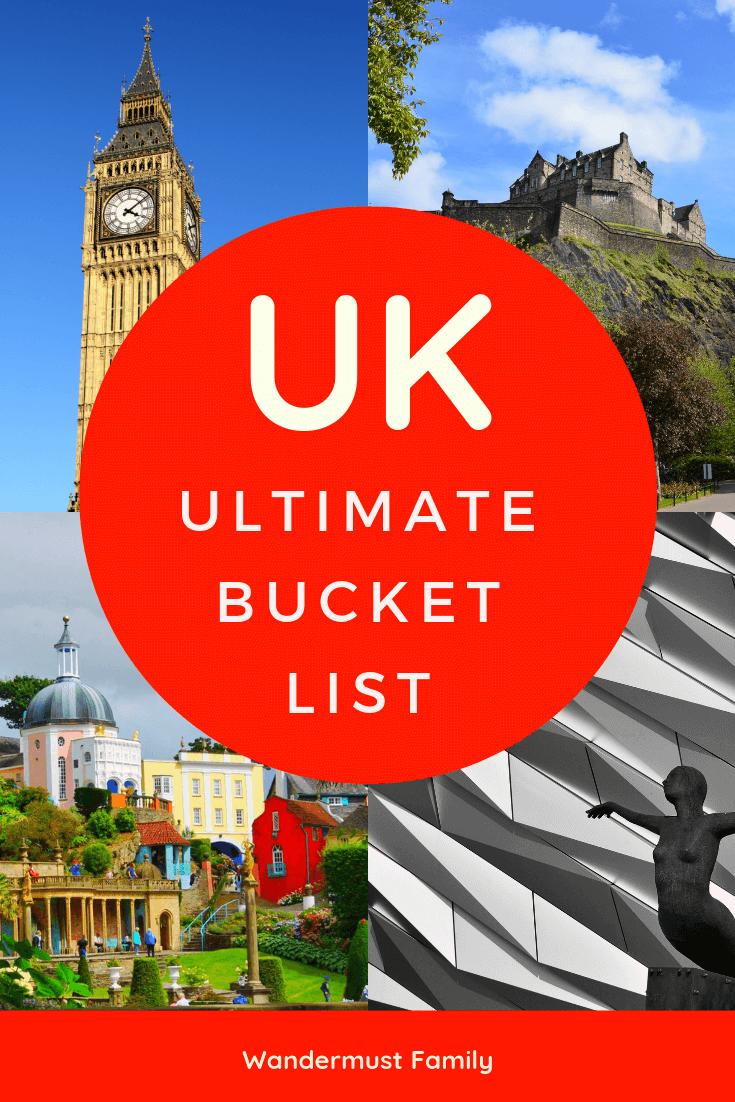 Ultimate UK Bucket List - Wandermust Family