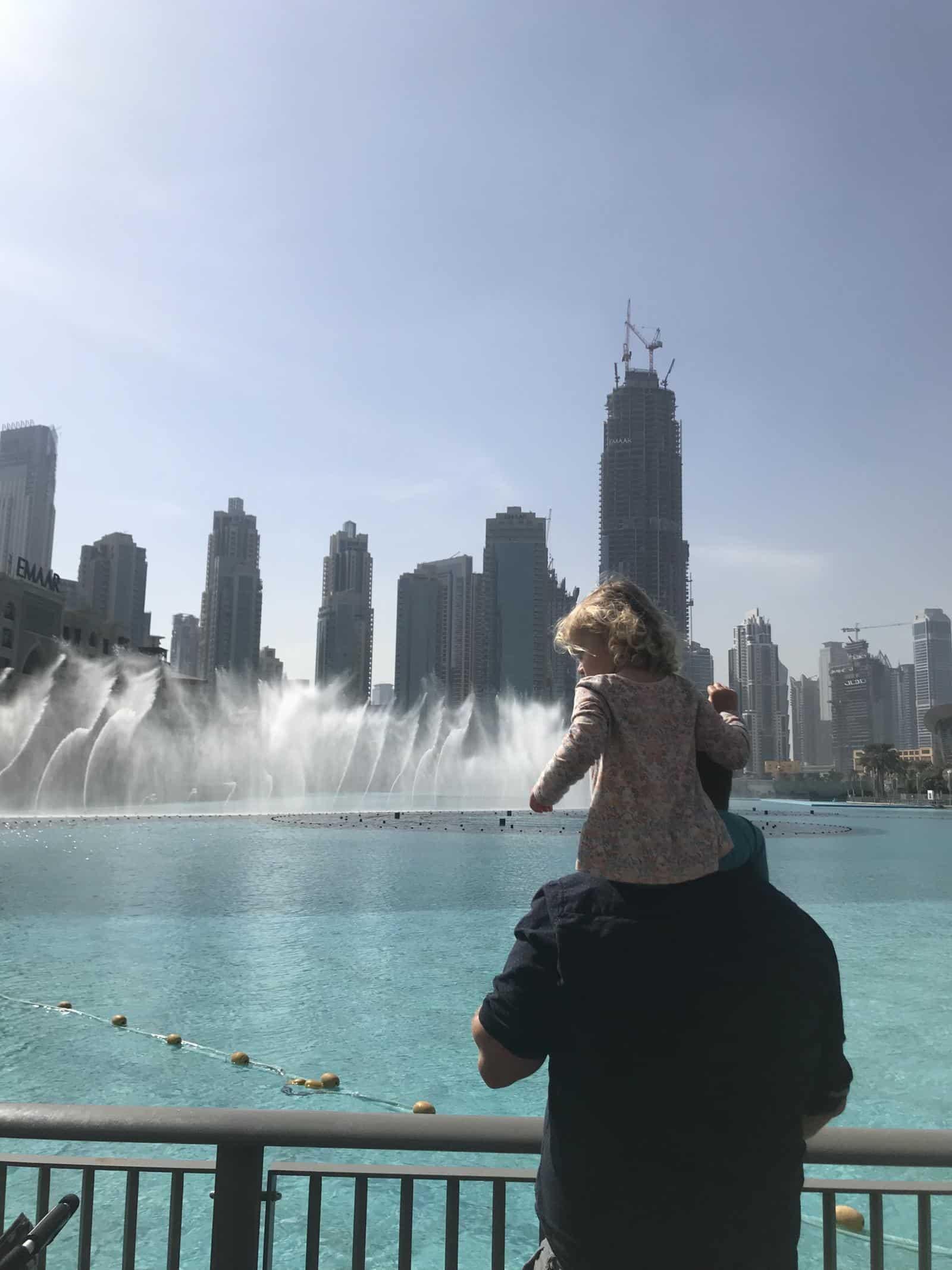 Dubai Fountains - Must for dubai with a baby
