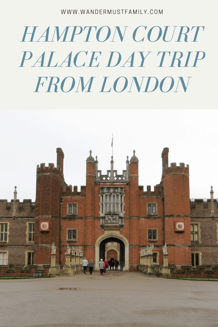 Hampton court palace day trip from London #london #uktravel #wandermustfamily
