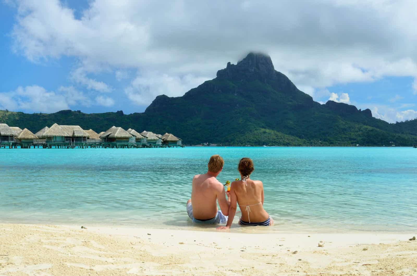 Couple on Bora Bora - Bora Bora Vs The Maldives which is best?
