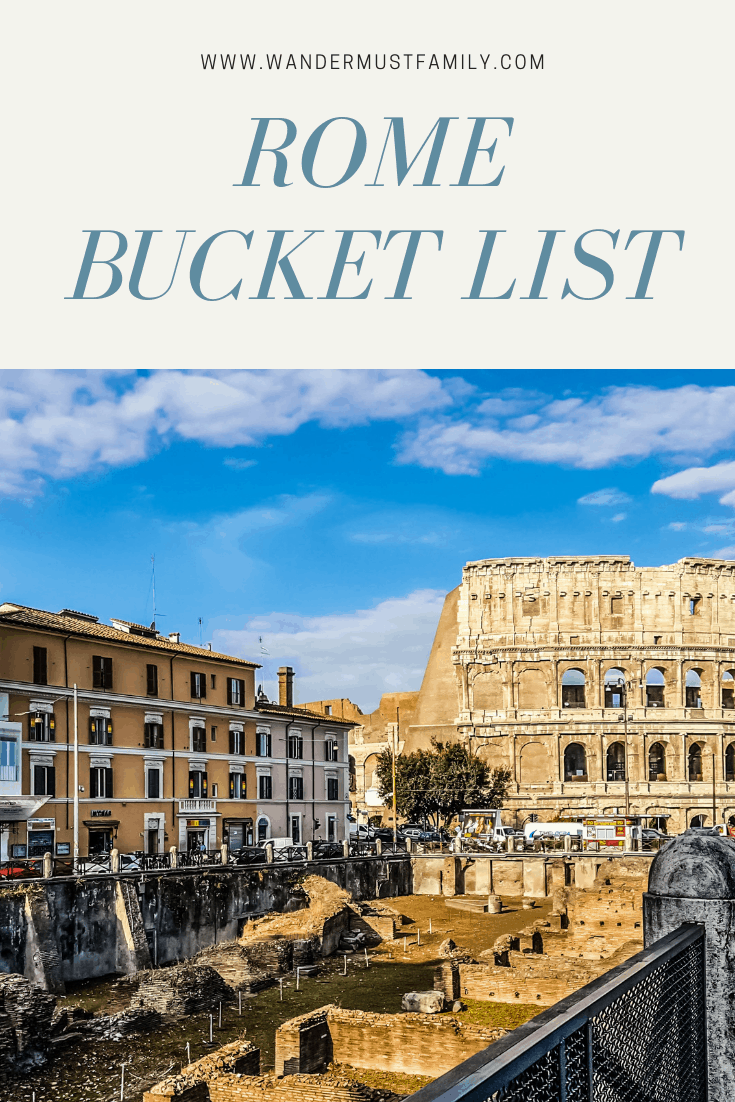 Rome bucket list, including best Rome hidden gems! #rome things to do in Rome