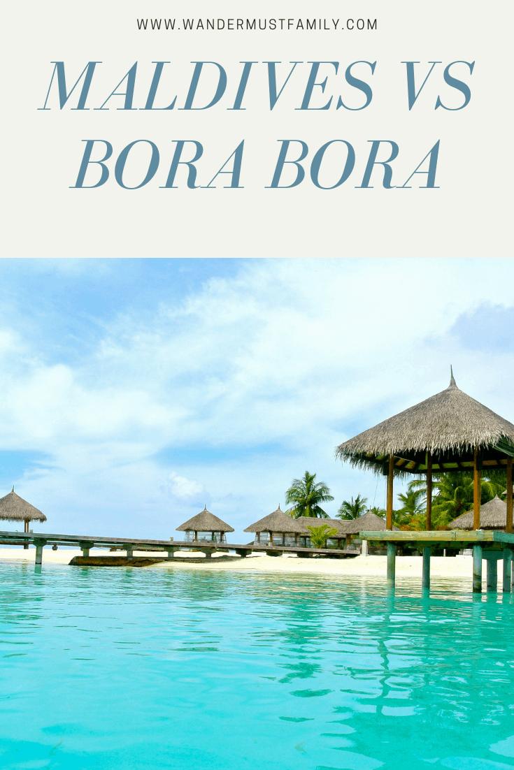 Bora Bora vs Maldives #bucketlist #frenchpolynesia #maldives #borabora