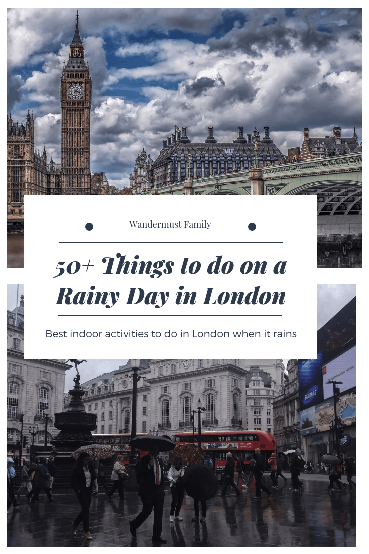 things to do in London on a rainy day! Rainy day in London. What to do in London when it rains #london #londontravel #londonthingstodo #rainylondon #londonintherain