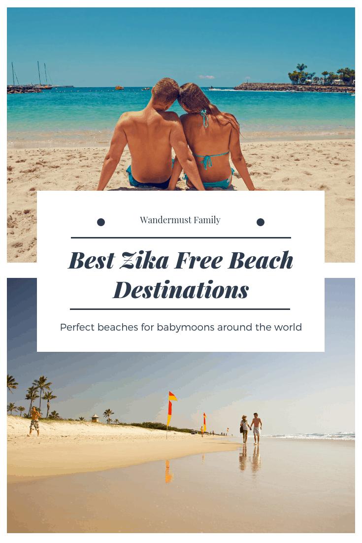 The best Zika free beach destinations for babymoons around the world! Zika Free Babymoon / Babymoon Destinations / baby moon zika free #wandermustfamily #babymoon #zika #beach #babymoondestinations #zikafree #pregnancytravel #babymoonvacation #babymoon