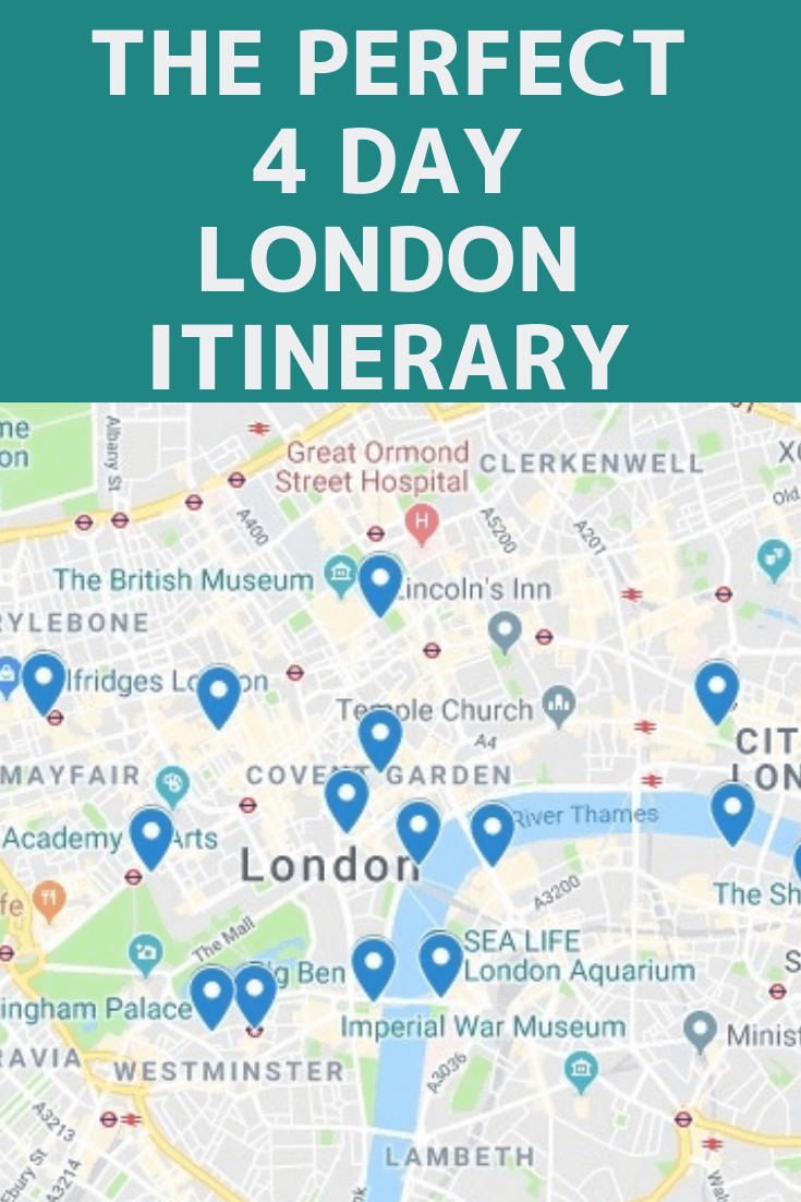 Perfect 4 Day London Itinerary #london #visitlondon #thingstodoinlondon #4daysinlondon #londonthingstodo #londonitinerary #4daysinlondonitinerary #london4dayitinerary #london4days
