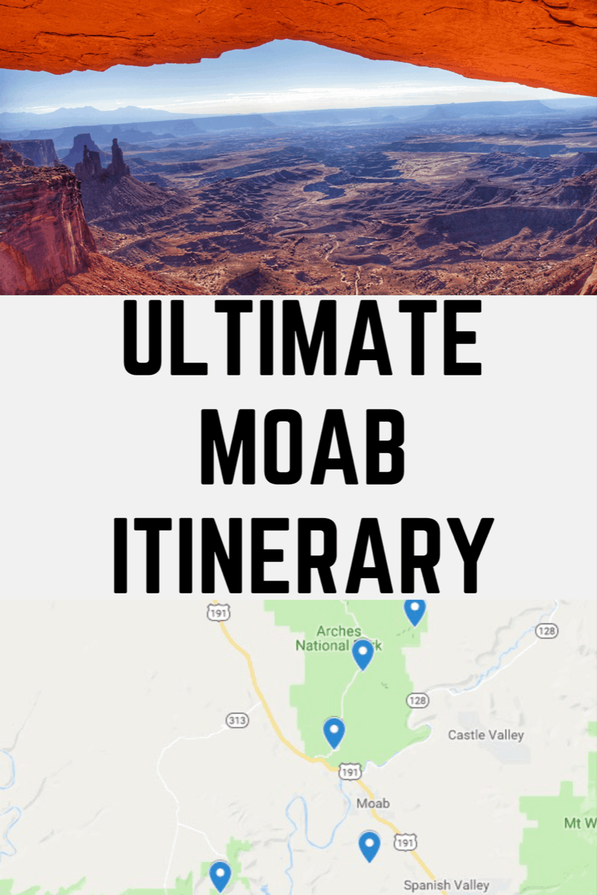 Ultimate 3 days in Moab Itinerary including the best things to do in Moab, Arches National Park, Canyonlands National Park and Dead Horse Point State Park #moab #arches #archesnationalpark #nationalparks #canyonlands #canyonlandsnationalpark #deadhorsepointstatepark #visitmoab #utah