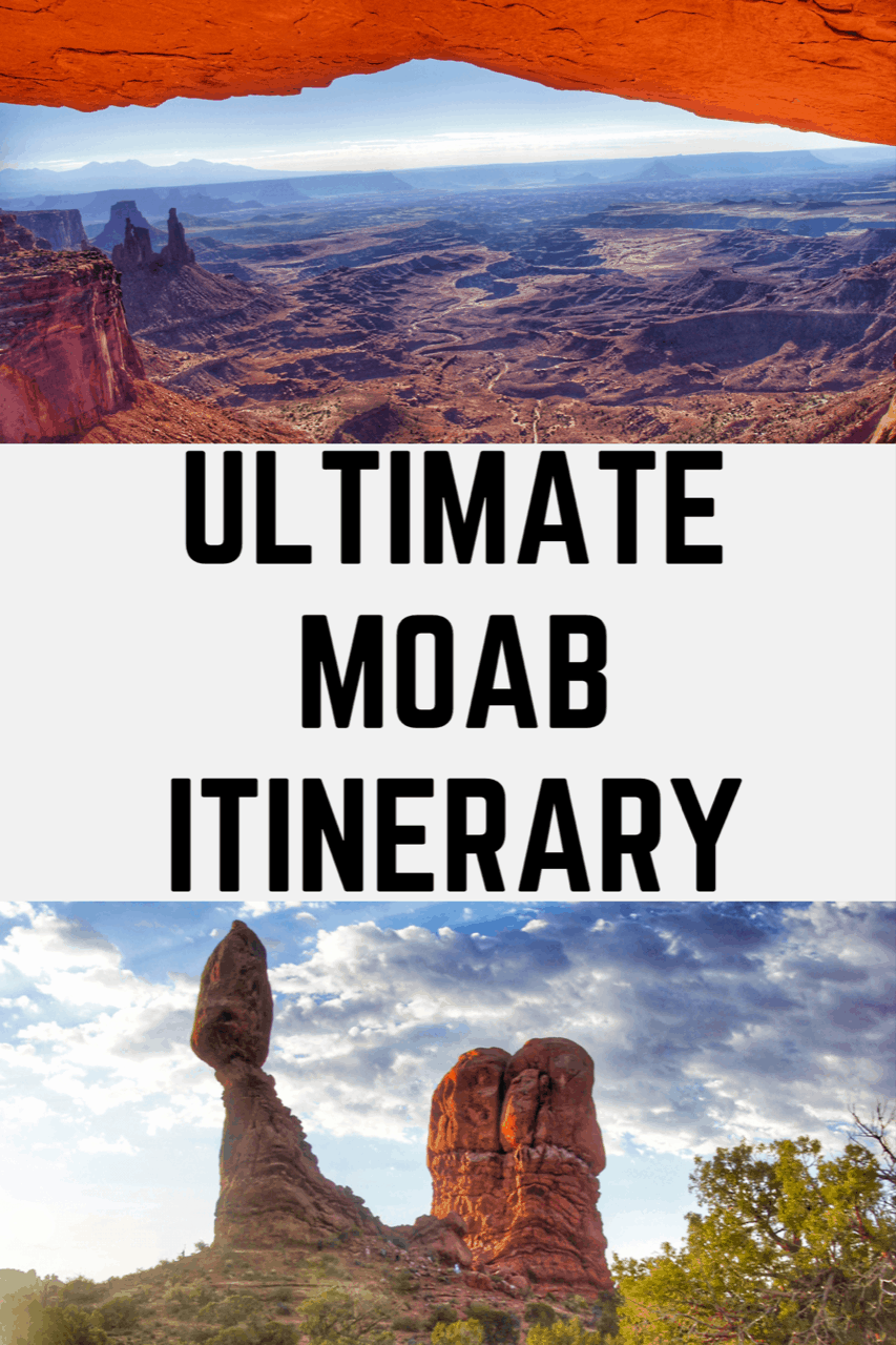 Ultimate Moab Itinerary including the best things to do in Moab, Arches National Park, Canyonlands National Park and Dead Horse Point State Park #moab #arches #archesnationalpark #nationalparks #canyonlands #canyonlandsnationalpark #deadhorsepointstatepark #visitmoab #utah