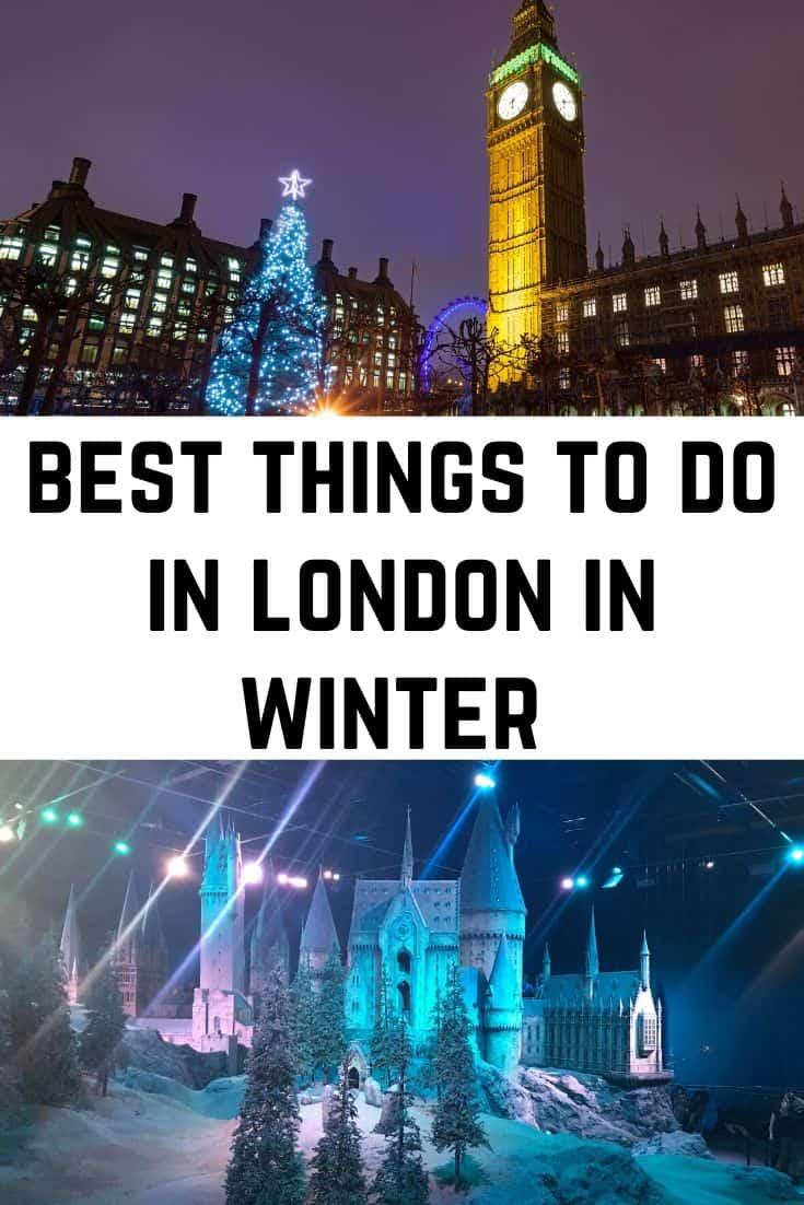 London at Christmas itinerary