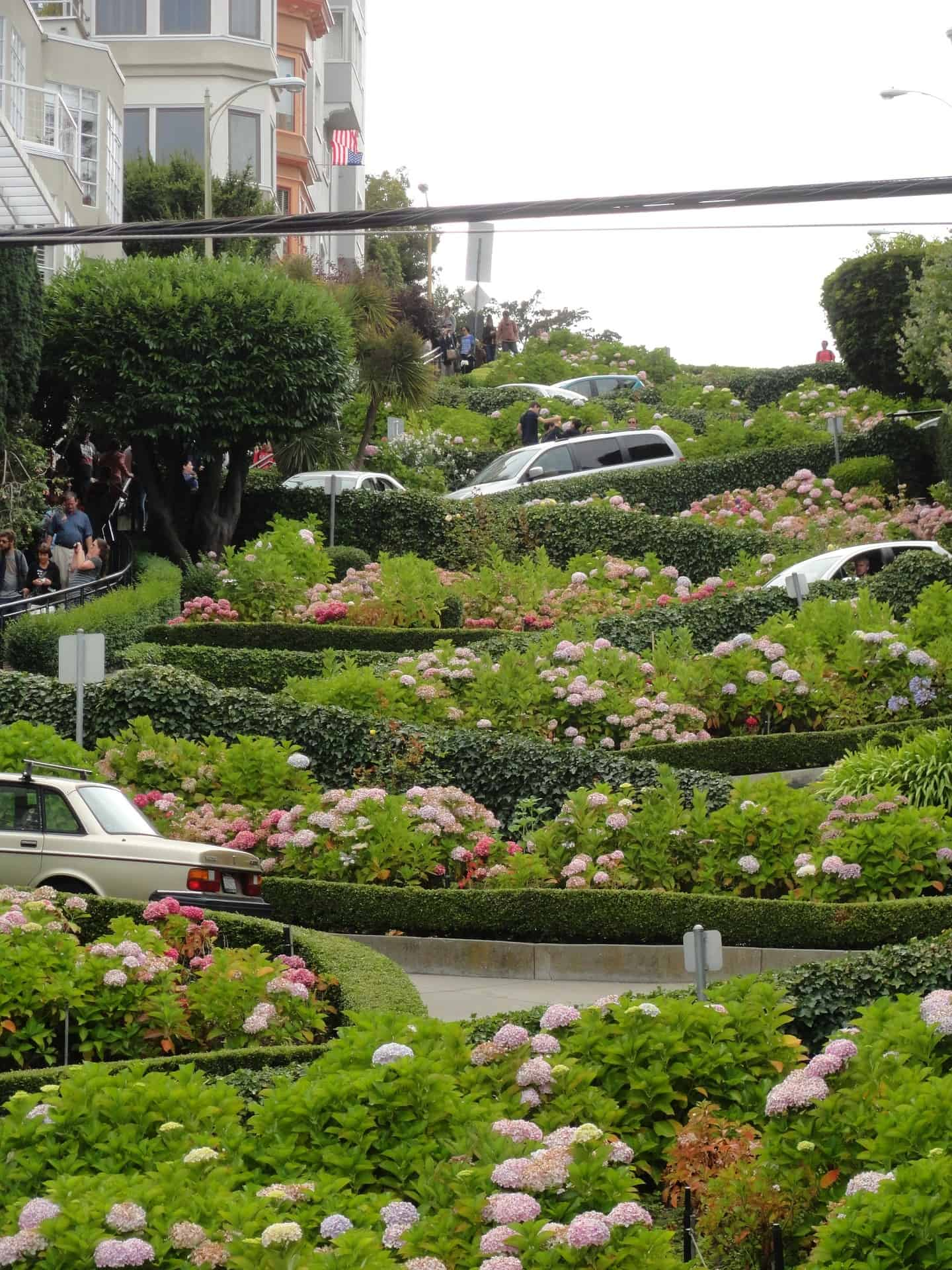 Lombard Street with kids