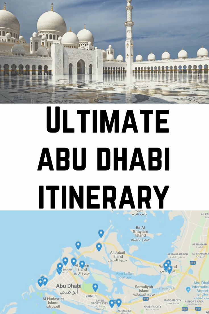 Ultimate Abu Dhabi Itinerary - How to Spend One Week in Abu Dhabi - a week #abudhabi #uae #visitabudhabi #louvre #beaches #dubai