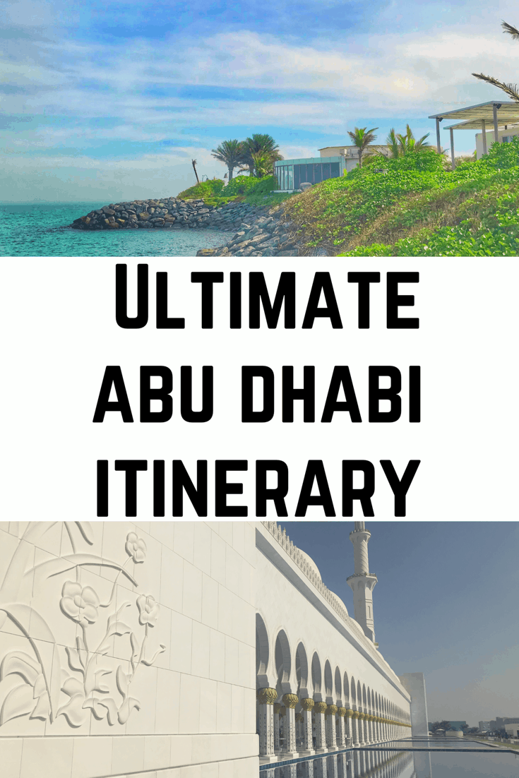 Ultimate Abu Dhabi Itinerary - How to Spend One Day in Abu Dhabi - including the best things to do in Abu Dhabi #abudhabi #uae #visitabudhabi #louvre #beaches #dubai