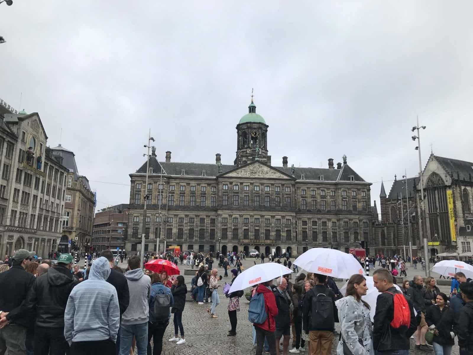 Dam Square Amsterdam in the Rain