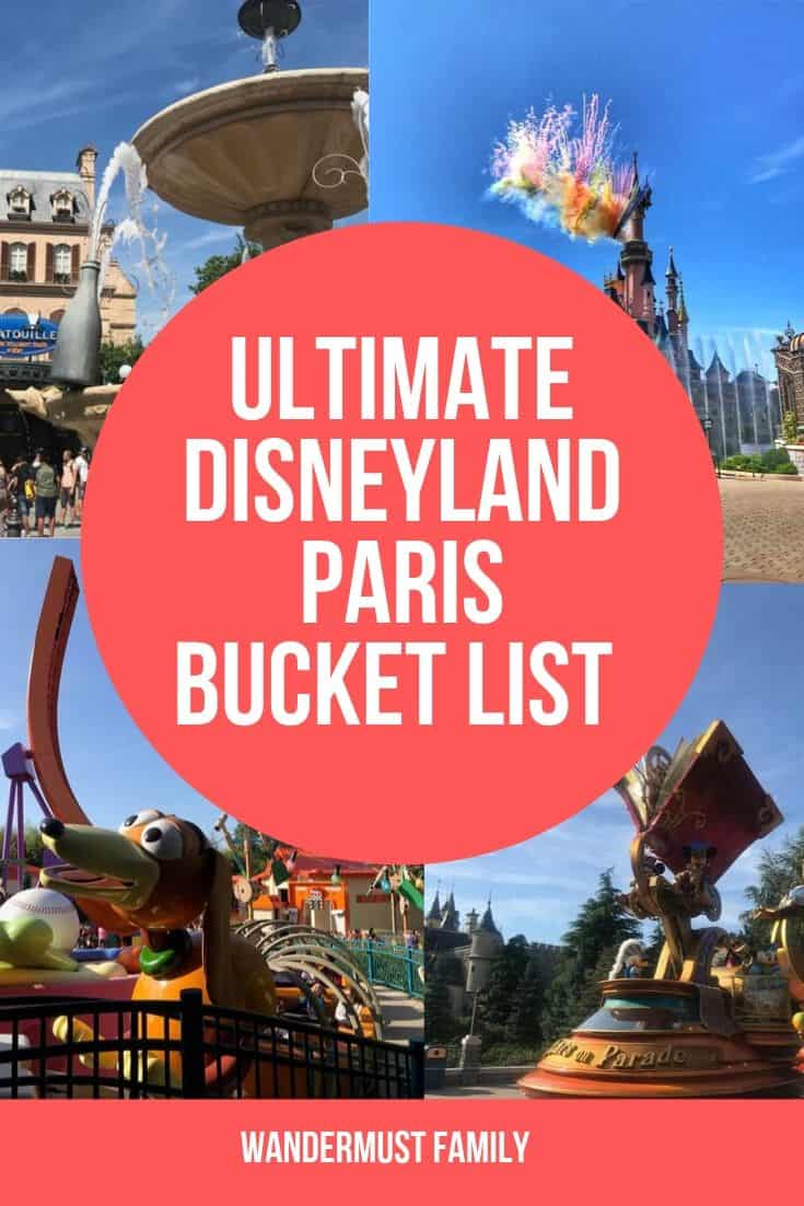 Best Things to do in Disneyland Paris Bucket List