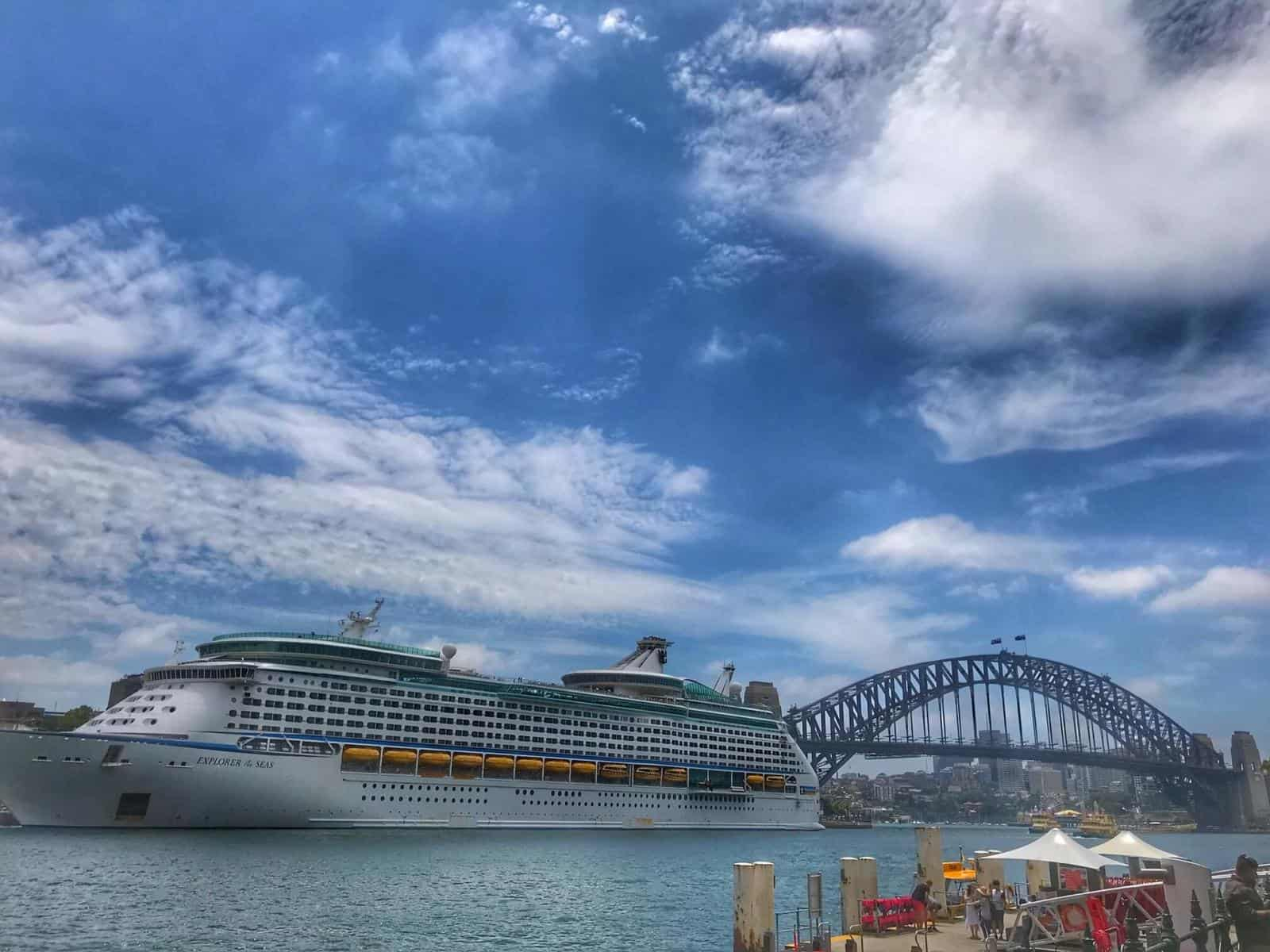 Cruise Ship in Sydney Port - one of the best Winter Cruise Destinations - the answer to where to cruise during Winter