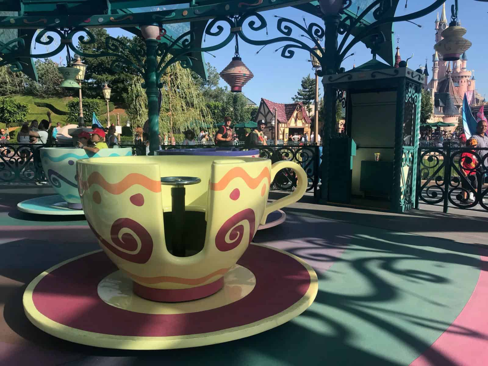 Disneyland Paris with toddlers and baby tips - why dumbo is the best disneyland paris rides for toddlers - Mad Hatter's Teacups