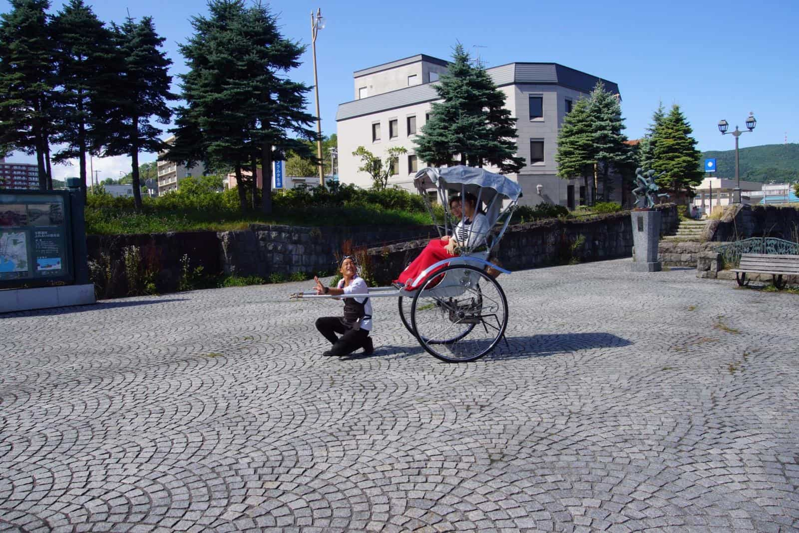 Take a Rickshaw Ride on your One Day in Otaru itinerary