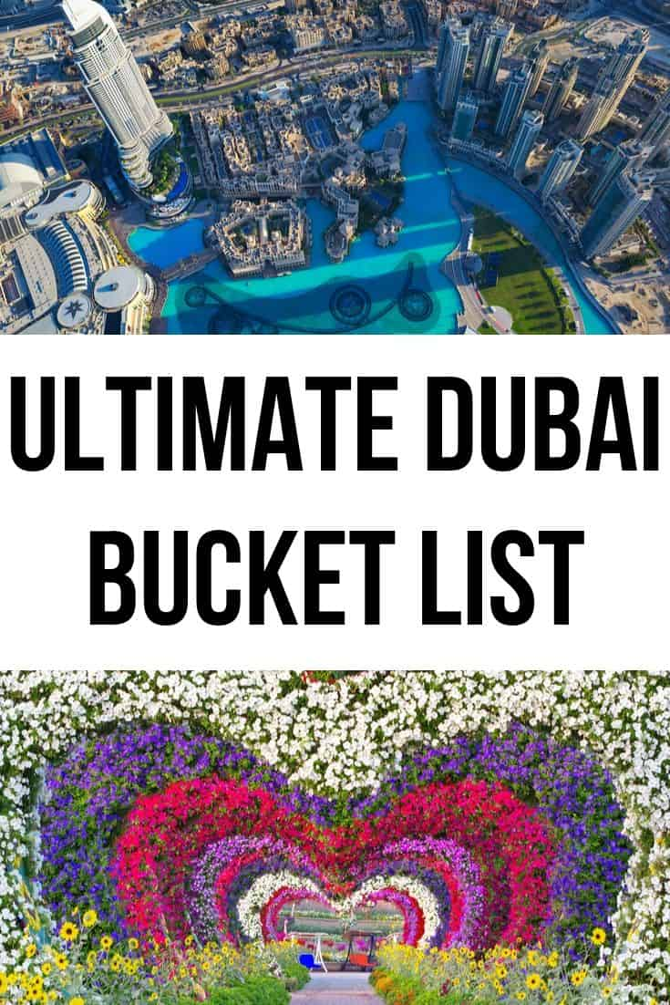 Best Things to do in Dubai Bucket List