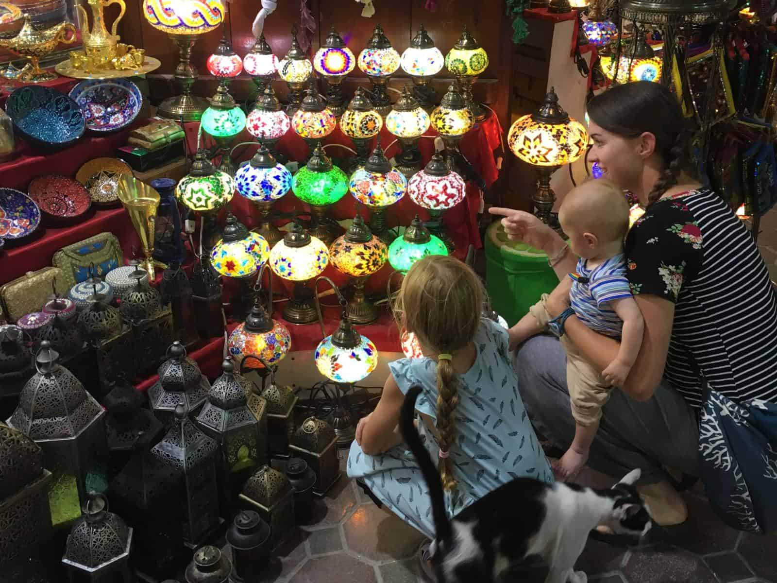Visiting the Souq Dubai with kids