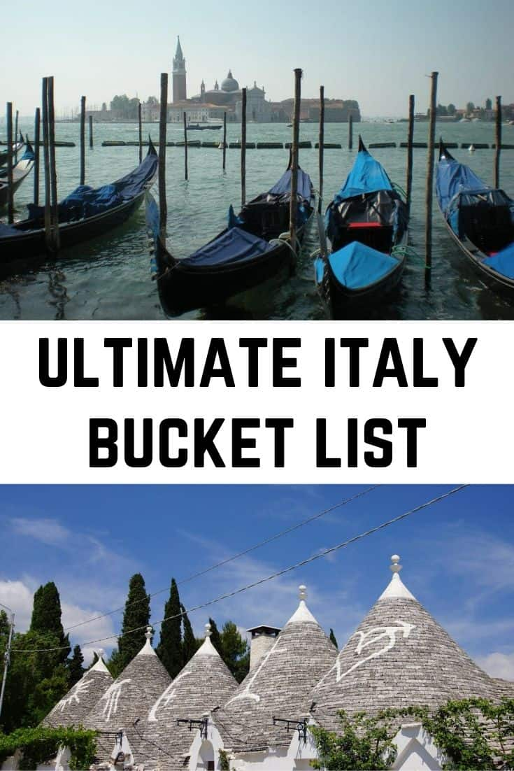 ultimate best things to do in italy bucket list