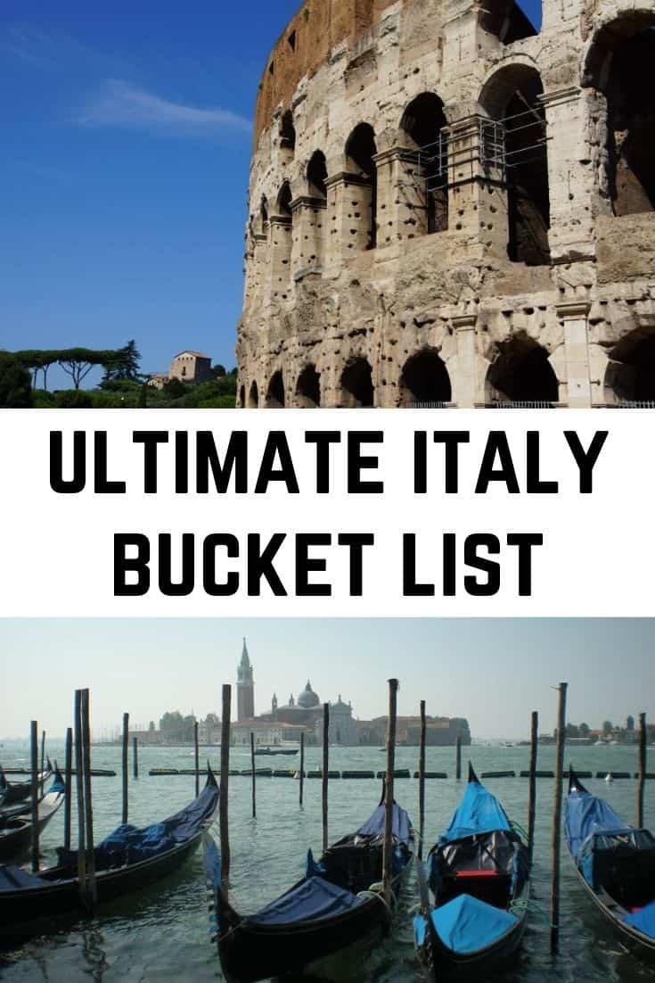 Ultimate Italy Bucket List